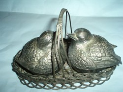 Antik asztali só borsszóró szett