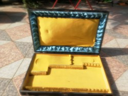 12 személyesen ezüst alpacca fém evőeszköz doboz. Eccájg tároló, tartó láda doboz!