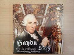 2009-es forgalmi sor MNB kibocsátás díszcsomagolt Haydn PP ezüst érmével