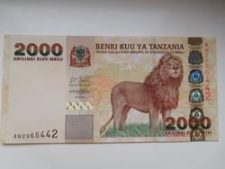 Tanzánia 2000 shillings 2003 UNC Ritka!