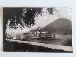Régi képeslap 1959 Nagymaros hajóállomás