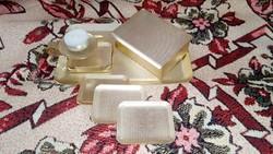 Eloxált alumínium retró asztali dohányzó / kártya / játék készlet