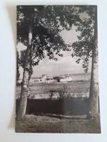 Régi képeslap 1962 Balaton hajó kikötő