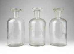 1B270 Régi dugós gyógyszertári 250 ml patika üveg készlet 3 darab