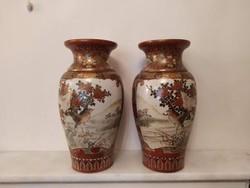 Antik ázsiai 2 db japán porcelán váza Ázsia Kína Japán