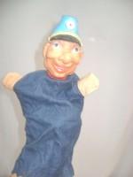 Régi gumi fejű kesztyűbab - katona