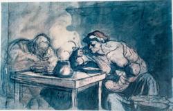 Honoré Daumier limitált kiadású litográfia (1961-ben készült)