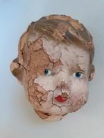 Antik babafej vintage fej játék alkatrész