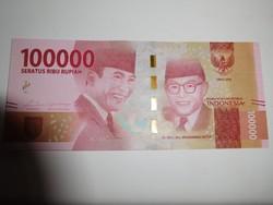 Indonézia 100000 rupiah 2019 UNC A legnagyobb címlet!