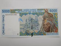 Nyugat Afrikai Államok /Togo/ 5000 francs 2002 UNC Ritka! A 2 legnagyobb címlet!