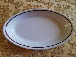 Alföldi porcelán barna!! csíkos ovális kocsonyás tányér