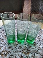 Zöld pohár 3 darab   14 cm