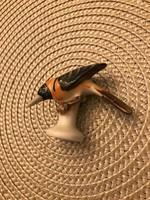 Herendi hibátlan kis madár 5 cm magas 6 cm széles.