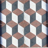 Vasarely mintás régi színes cementlap