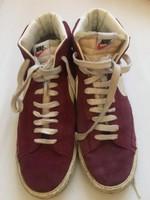 Bordó velúr bőr Nike cipő  45-ös