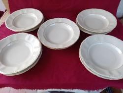 417 5+5 db  Régi  Bavaria lapos és mély tányér 24 cm