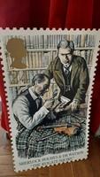Sherlock Holmes & Dr. Watson The Reigate Squire óriási műanyag bélyeg 1993 műanyag tábla