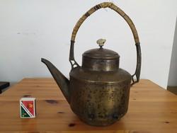 Ízléses, réz teáskanna