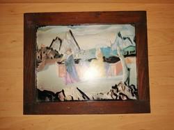 Molnár C. Pál nyomat fa képkeret 27*33 cm