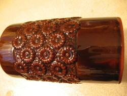 2 db Városlődi retro barna váza