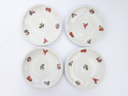 Alföldi retro porcelán tányérok zöldség mintával - desszertes, kis tányérok