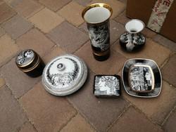 Hollóházi Szász E. és Jurcsák porcelánok