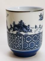 Tradicionális japán  YUNOMI porcelán teáscsésze