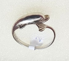 Ezüst gyűrű - Delfin 56-es méret 2,37 gr