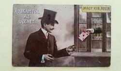 Régi képeslap 1907 Magyar Királyi Posta