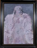 """Bolgár József (1928-1986): """"Kicsi a világ"""", női akt"""