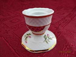 Hollóházi porcelán mini gyertyatartó, magassága 4 cm.