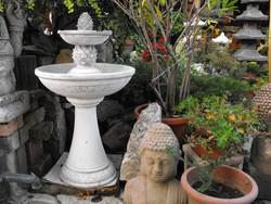 Szép Fagyálló kültéri kerti kő Szökőkút  Toboz  mintás műkő szobor szökő kút