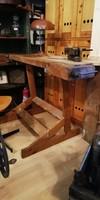Íróasztal, ipari stílusú asztal, régi satupadból íróasztal, loft