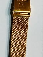 Arany színű milanese óraszíj , mesh acél óra szíj