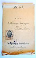 Tulajdonjog bekebelezés-15 krajcáros illeték bélyeggel /1885/ Régi irat
