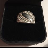 Swarovski Crystal stílusú köves  925-ös ezüst gyűrű