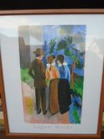 August Macke világhírű festő Litográfiája