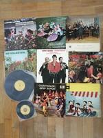 Vegyes folklór bakelit lemez csomag (10 db)
