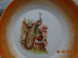 Zsolnay peacock patterned eosin glazed plate