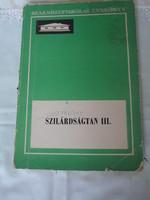Kövesdi Endre: Szilárdságtan III. (Műszaki, 1974; tankönyv)