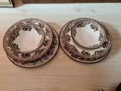 Angol porcelán Plymouth, 2 személyes készlet
