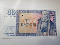 Izland 10 krónor 1961 UNC  Nagyon Ritka!