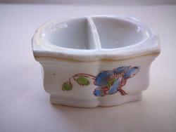 Antik,biedermeier virágos porcelán asztali só-bors tartó