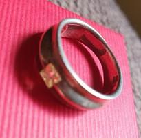 Sárga cirkón köves ezüst gyűrű