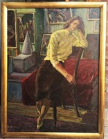 P.KovácsSándor   - Remek kvalitású olajfestmény 80x60 cm , 1950 körüli lehet .