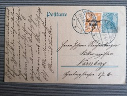Deutsche Reich díjeggyes levelezőlap 1921