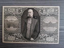 Ferenc József díjeggyes képeslap 1908.