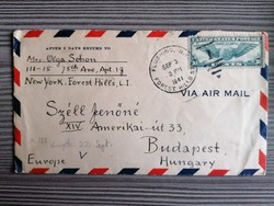 U. S. A. Futott légiposta boríték 1941