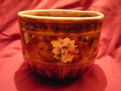 Virágmintás porcelán barna kaspó 200928