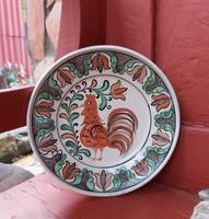 Kakasos falitányér, tányér, nosztalgia darab